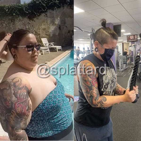 tattoo weight loss before and after